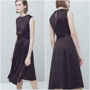 ❤️NWT Mango Black silky flowy dress 2016